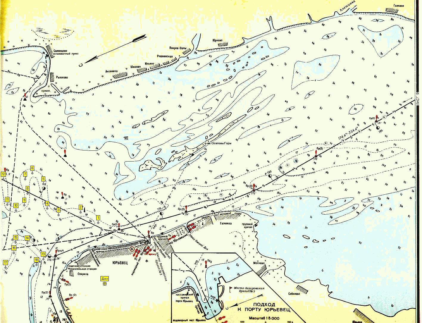 лоцманская карта самарского водохранилища тисса
